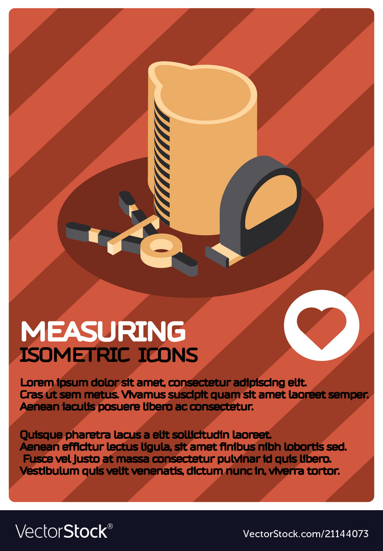 Measuring color isometric poster