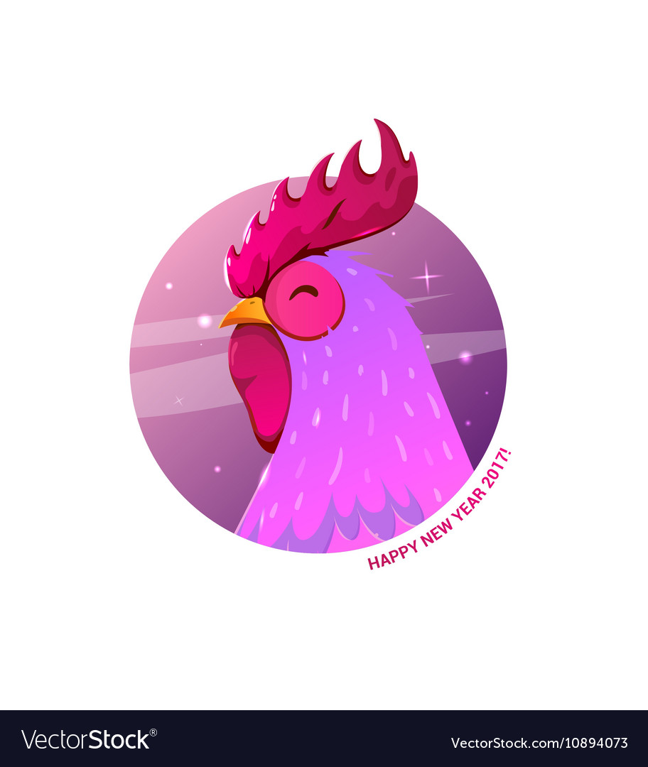 Rooster symbol 2017 on chinese calendar