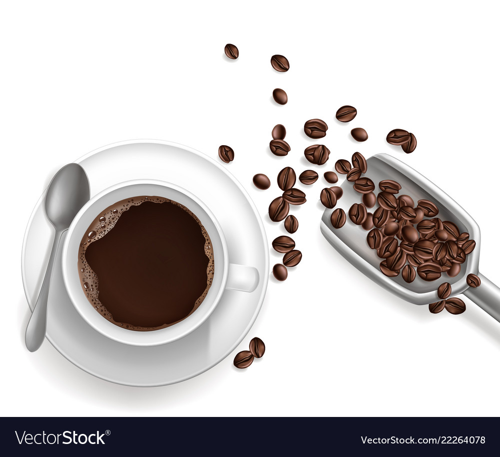 3d realistic cup of coffee sccop