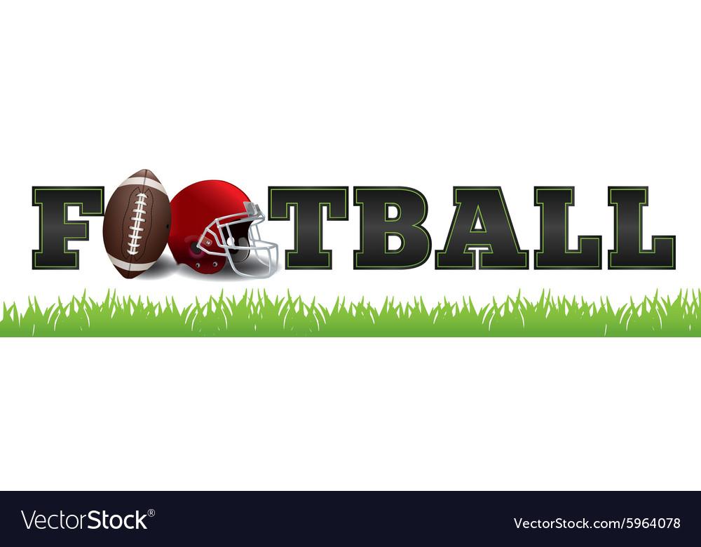 American Football Word Art