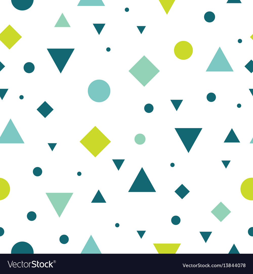 Blue and green vintage geometric shapes vector image