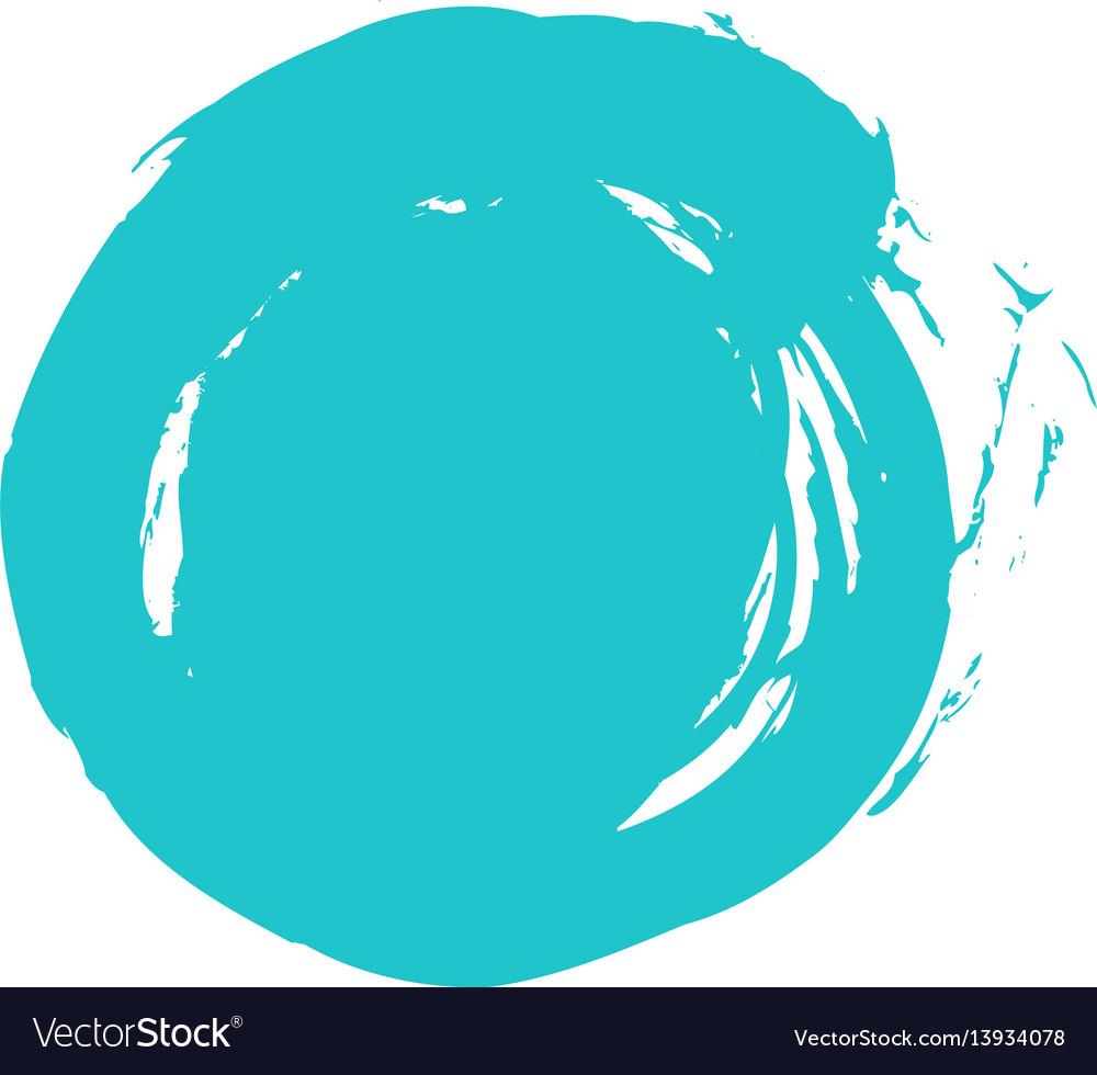 Brush stroke circle shape