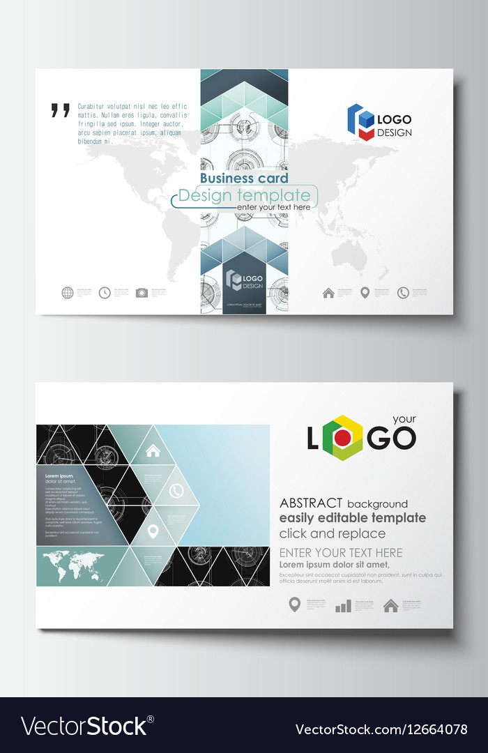 Business card templates easy editable layouts vector image accmission Choice Image
