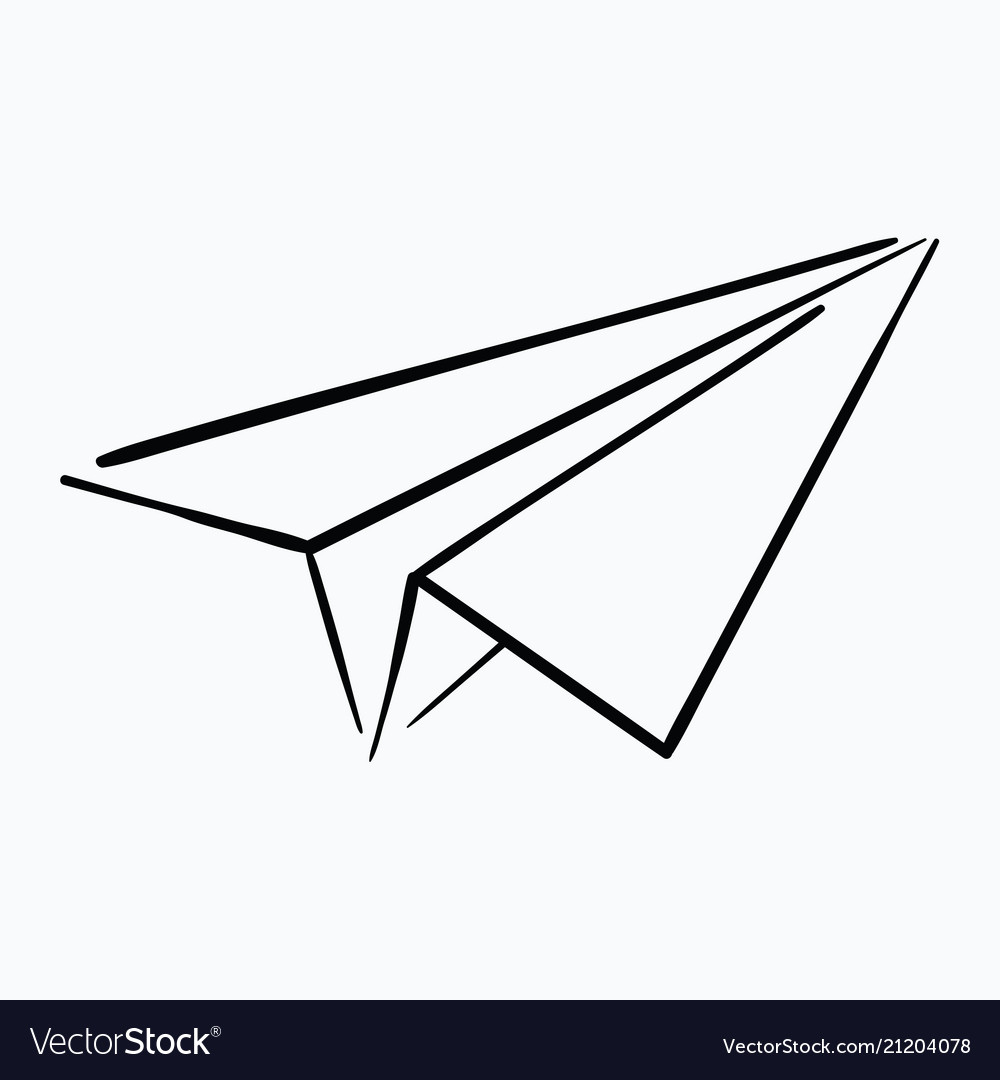 cartoon paper airplane logo of the aircraft made vector image rh vectorstock com paper airplane cartoon video Cartoon Throwing Paper Airplane