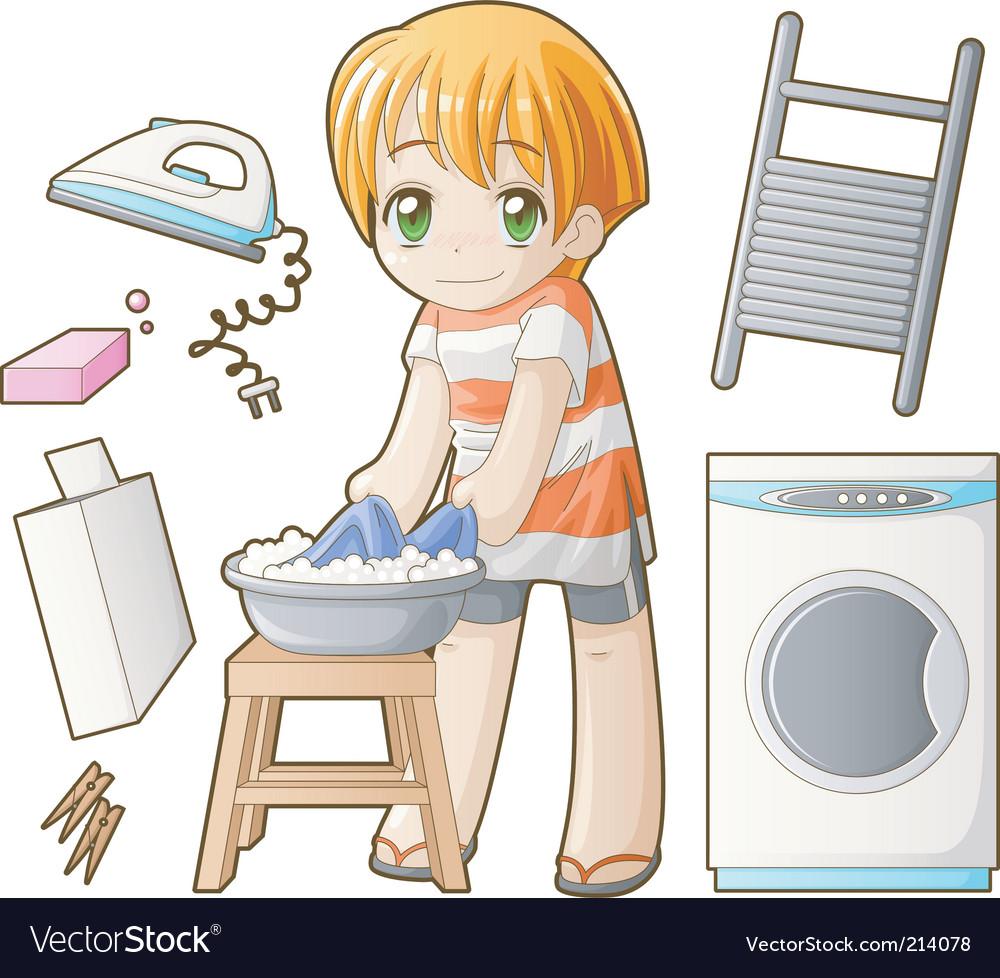 Chibi professions sets laundress