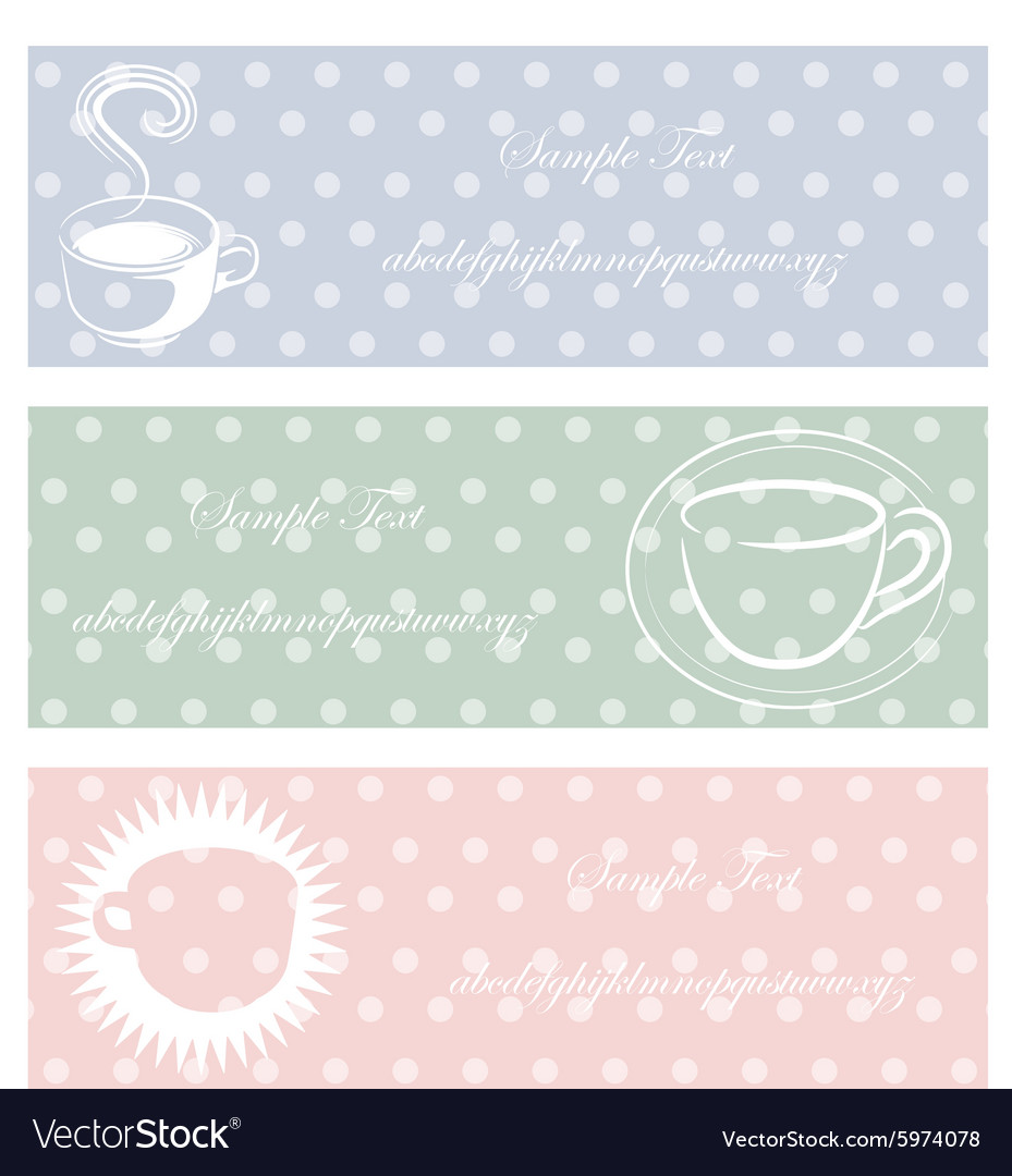 Coffee three color pastel style