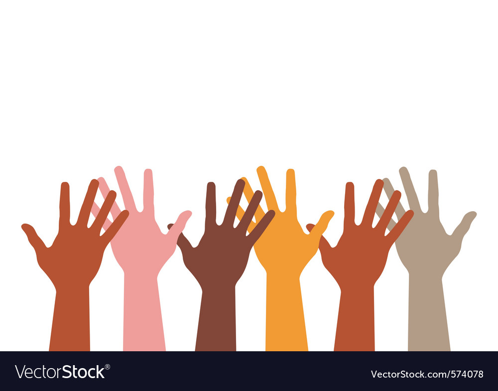 Different hands silhouette vector image