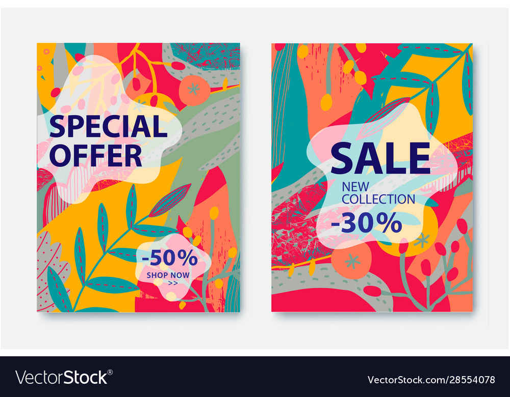 Floral stylized pattern sale banners