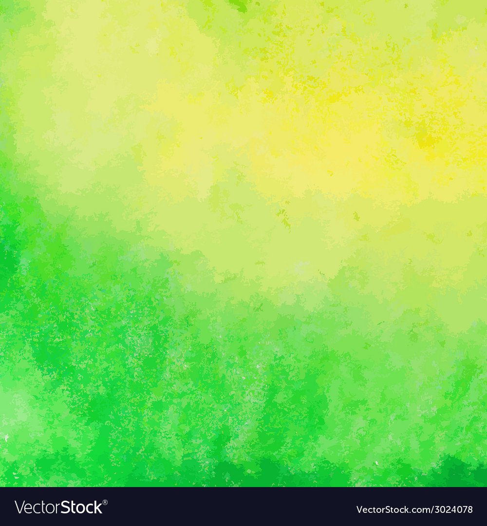Green and yellow watercolor paint background