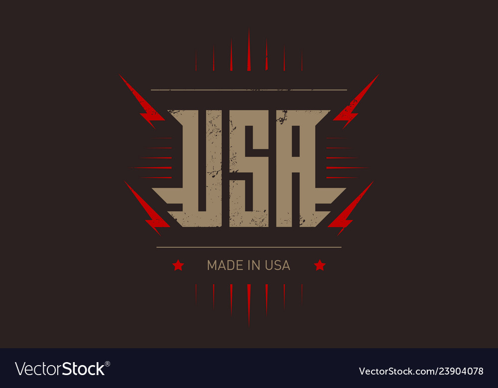 Made in usa label or t-shirt print original