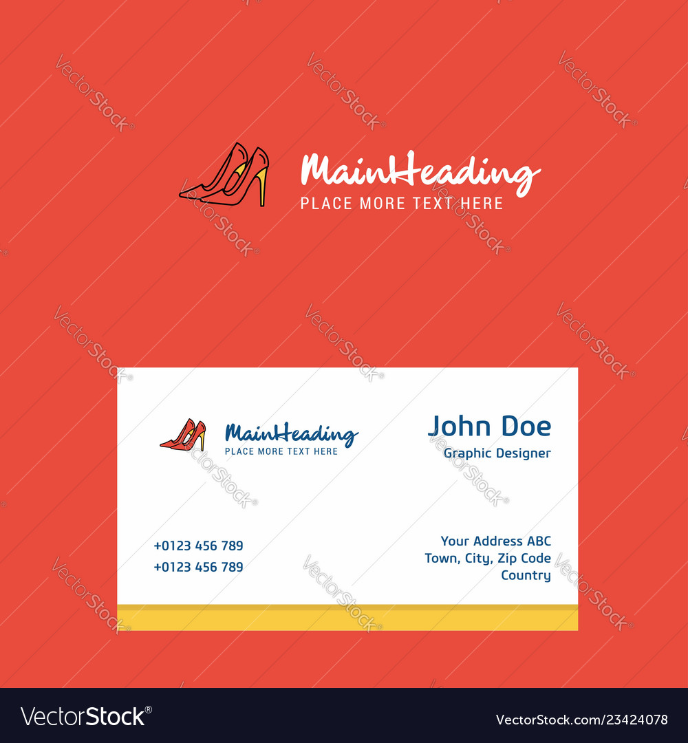 1a4ef678a3443 Sandals logo design with business card template Vector Image