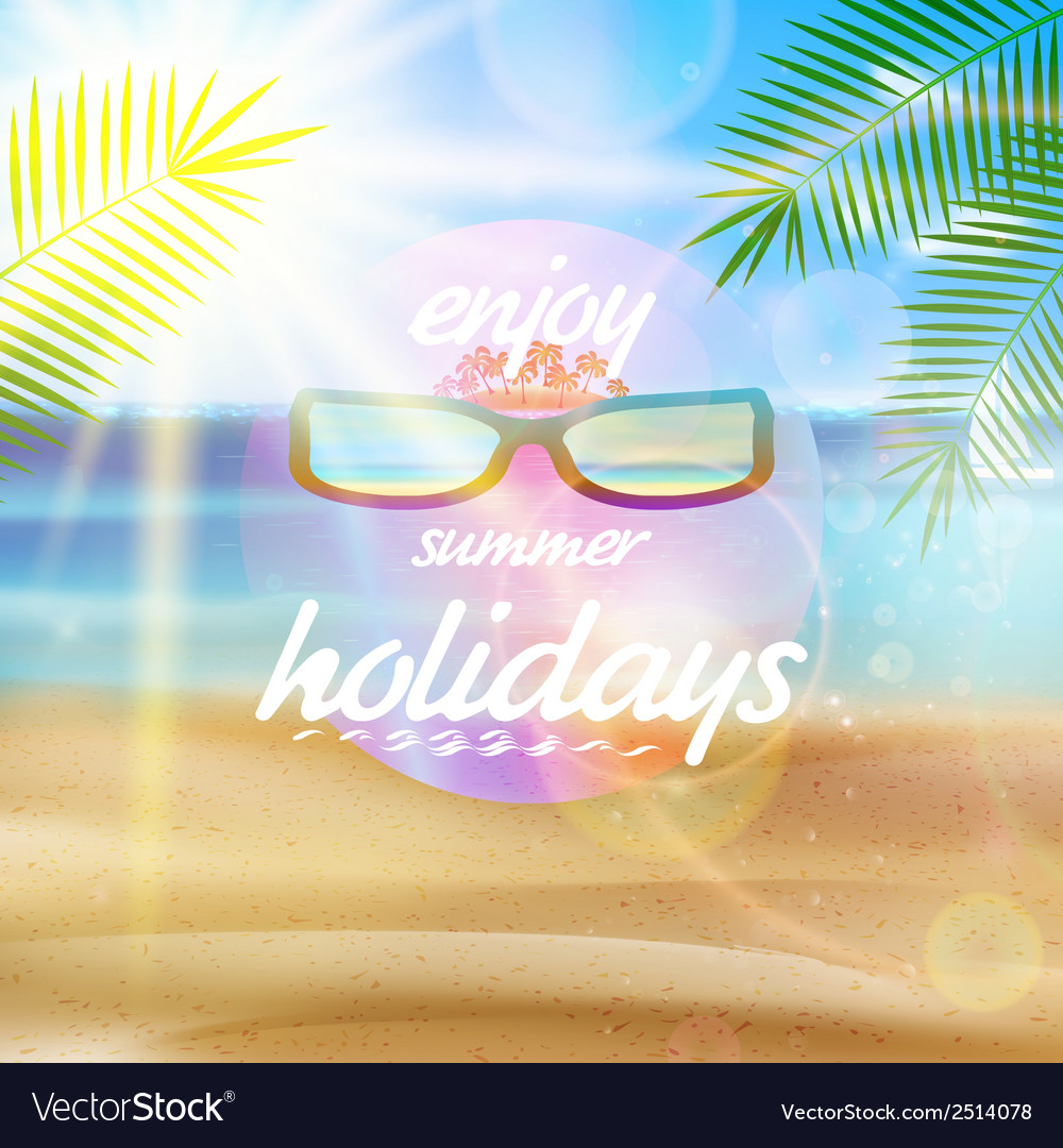Seaside view poster with Sun glasses