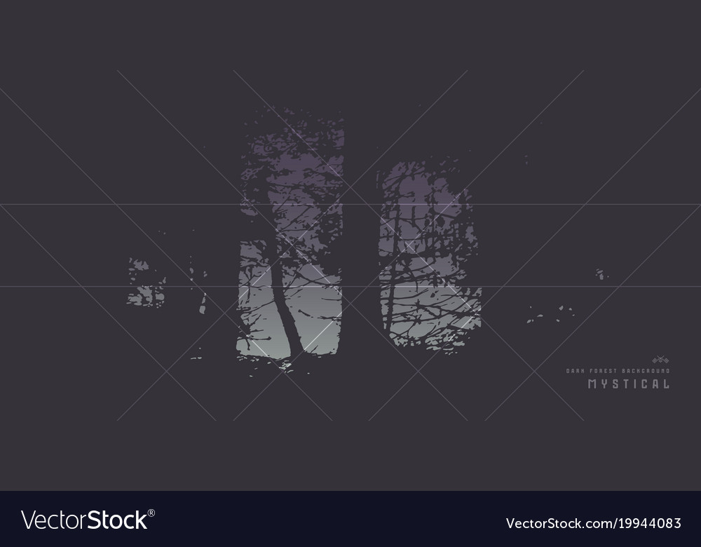 Banner design with the image of pine forest vector image