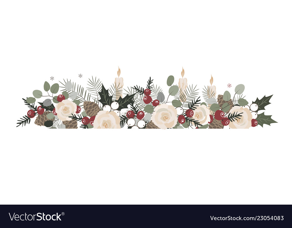 Basic rgb christmas border with fir branches