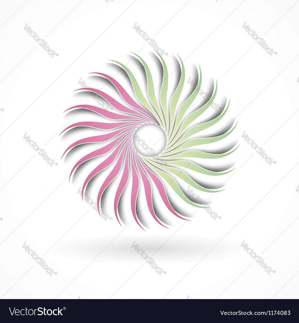 Decorative sign vector image