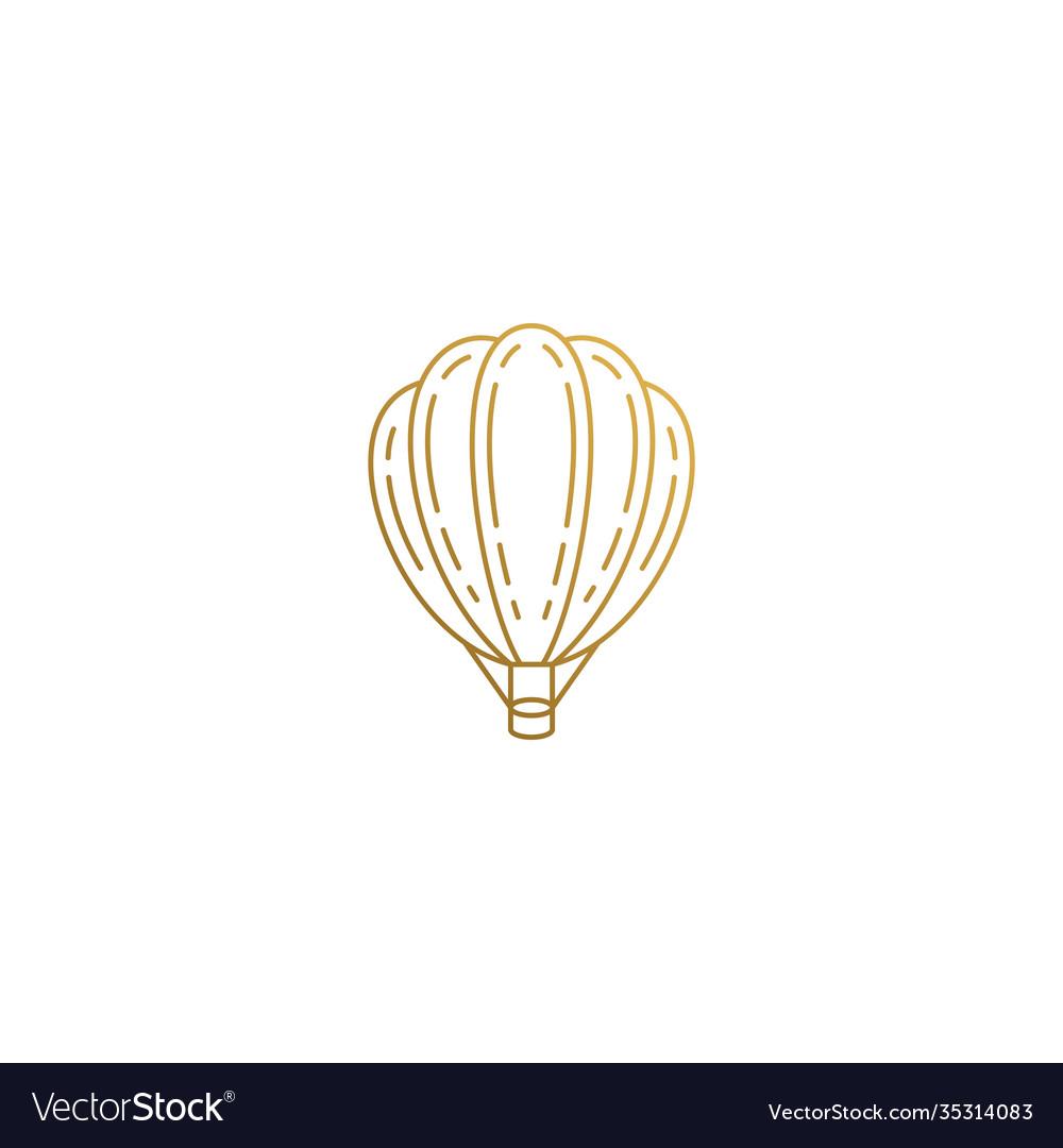 Design hot air balloon hand drawn