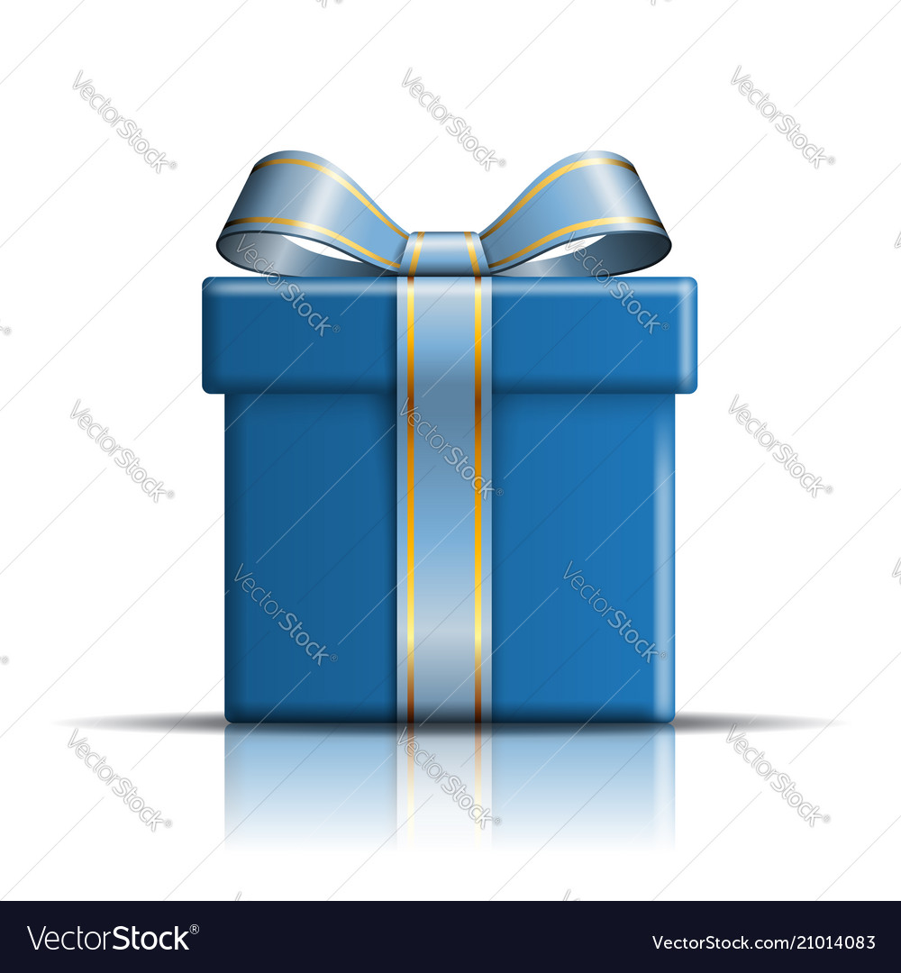 Gift box blue icon surprise present template