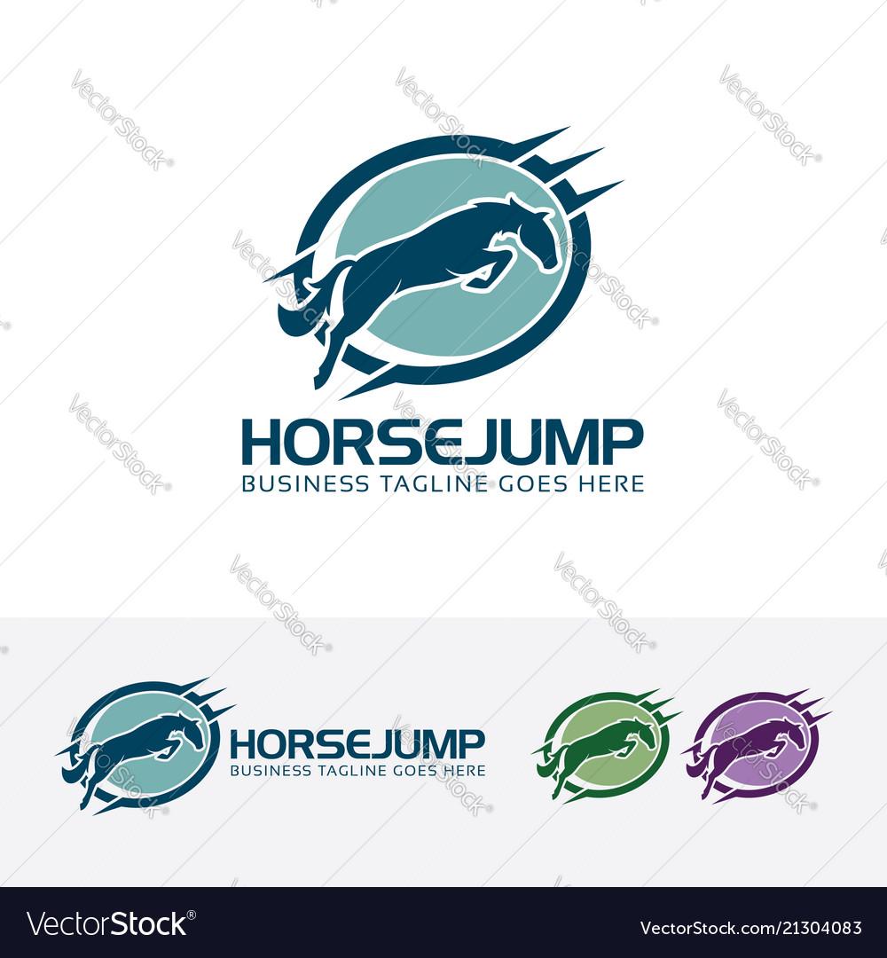 Horse jump logo design