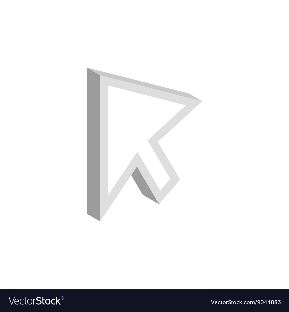 Mouse cursor is over object icon isometric style
