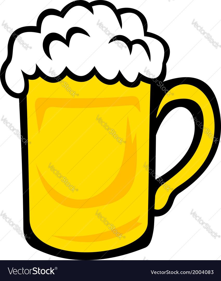 Tankard of frothy golden beer