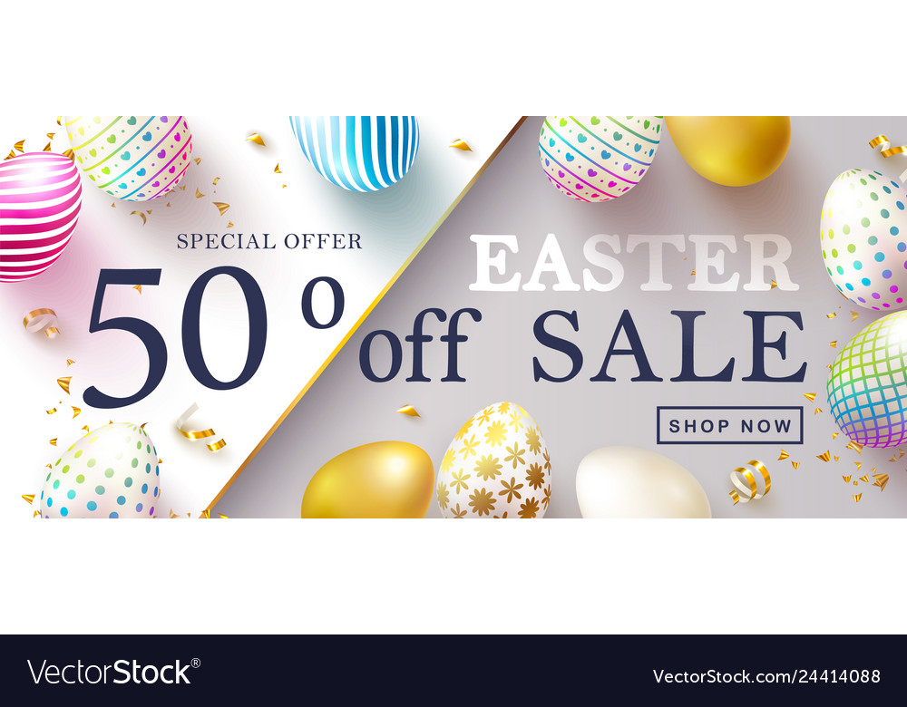 Happy easter sale bannerbeautiful background with
