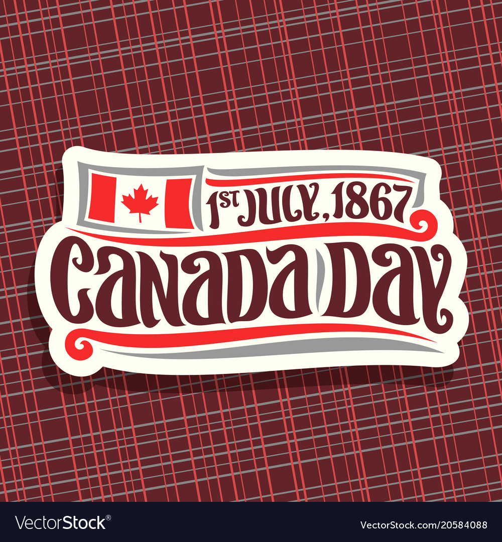 Logo for canada day
