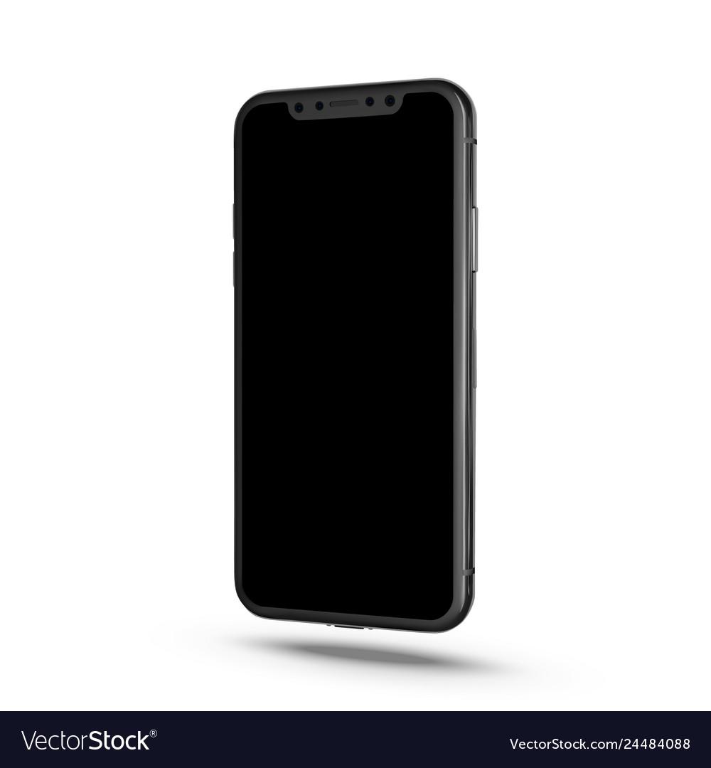 New smartphone phone isolated on white background