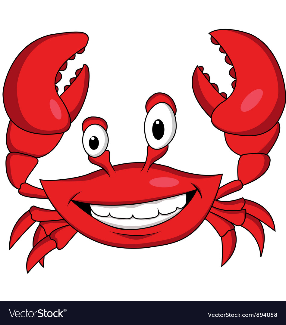 red crab cartoon royalty free vector image vectorstock rh vectorstock com cartoon crab pictures free Cartoon Shark