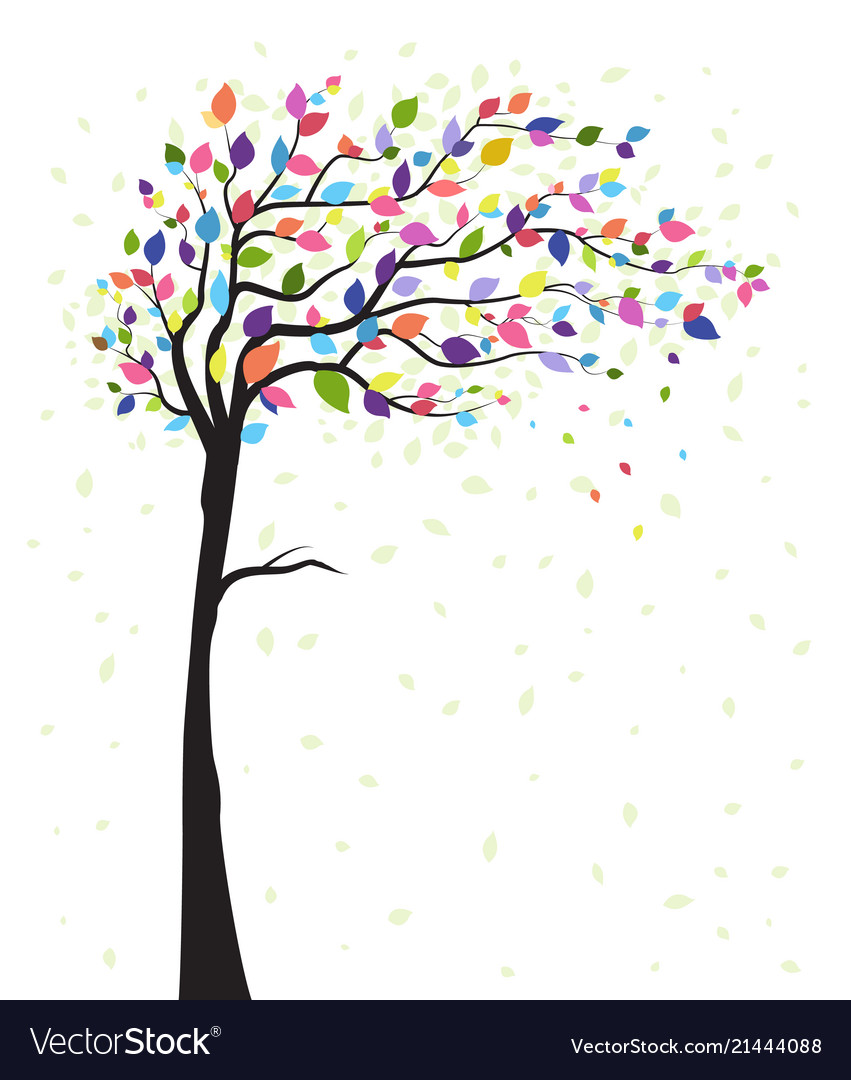 Tree and colorful leaves