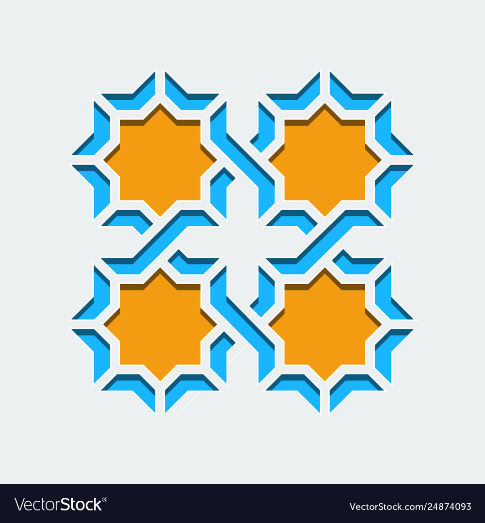 Arabic geometric abstract art deco mosaic seamless