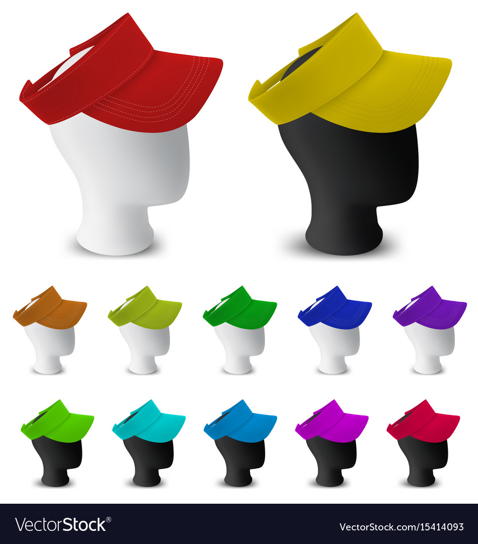 color visor template on mannequin head royalty free vector