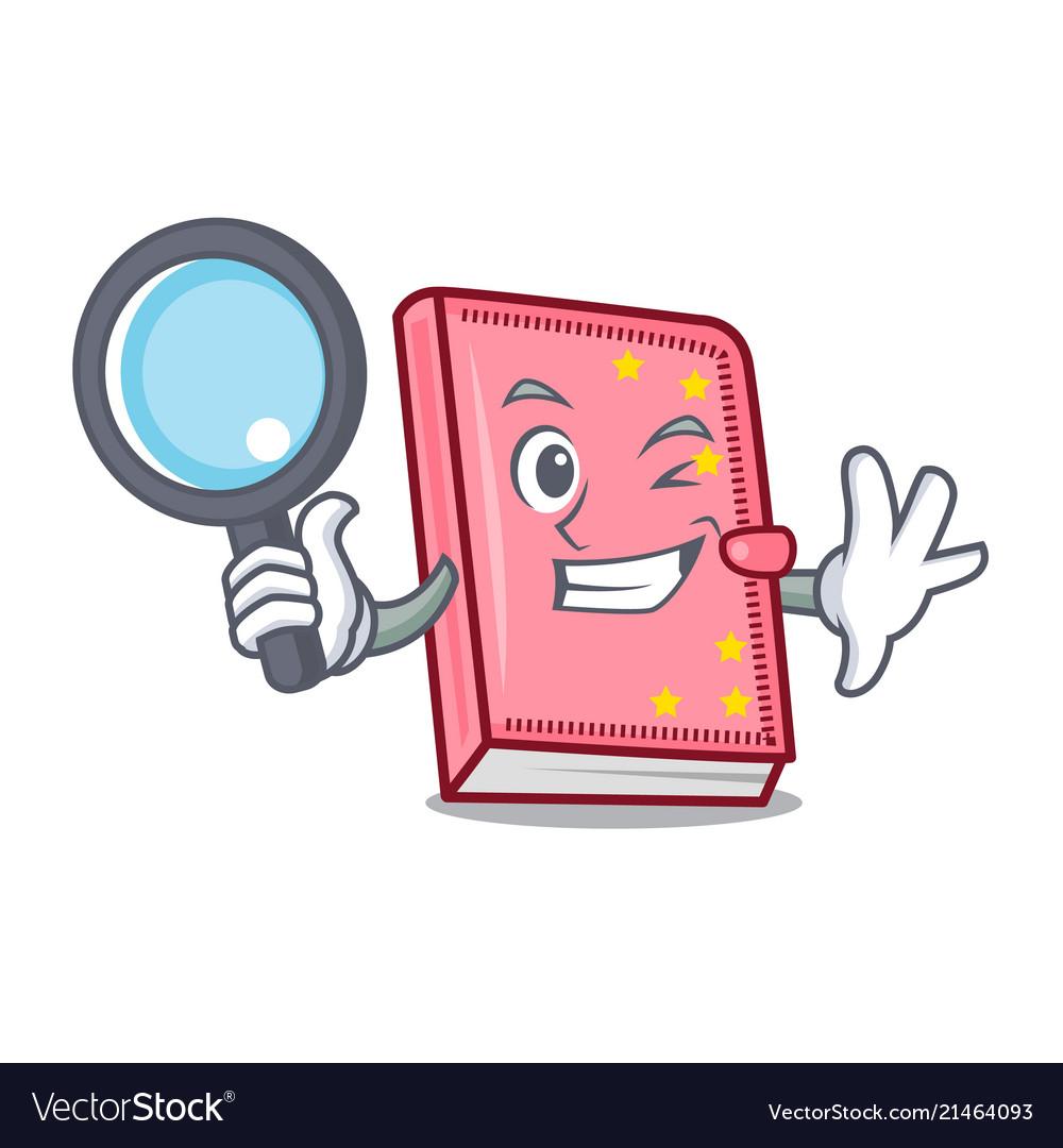 Detective diary character cartoon style