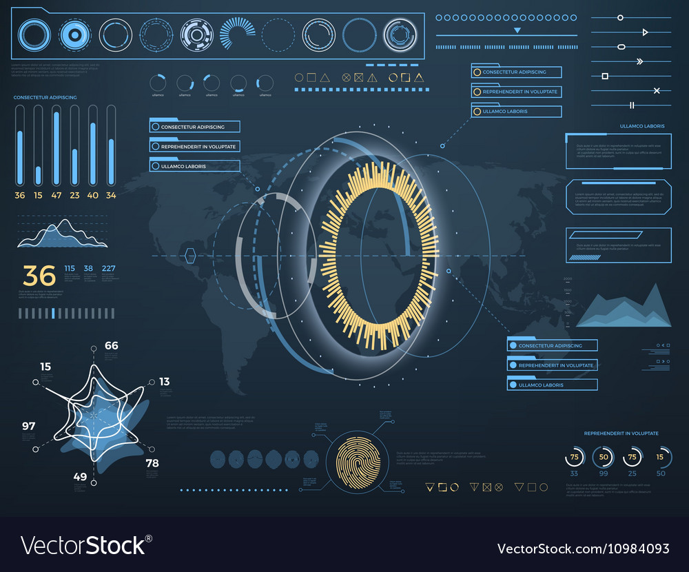 Future concept virtual touch user interface HUD