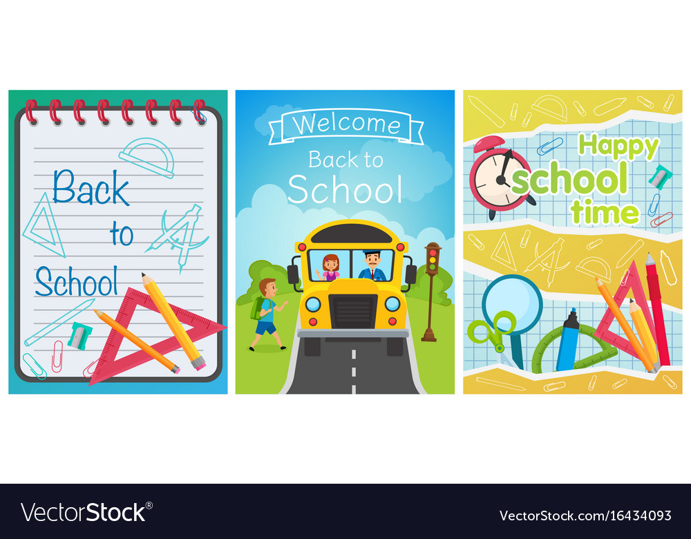 Welcome back to school concept template school