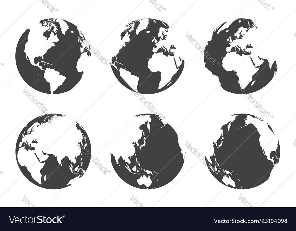 All side around the world flat design