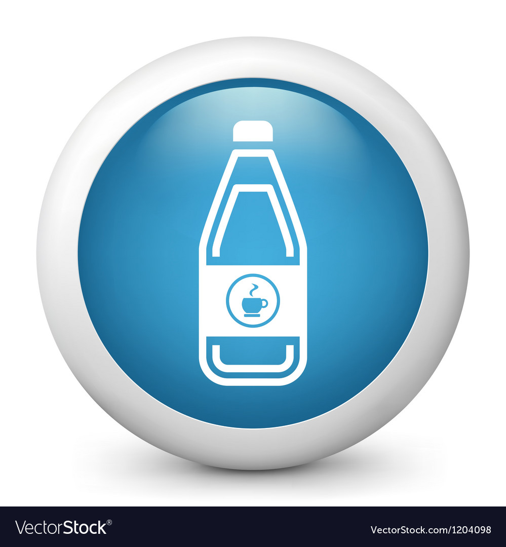 Coffee Bottle glossy icon vector image