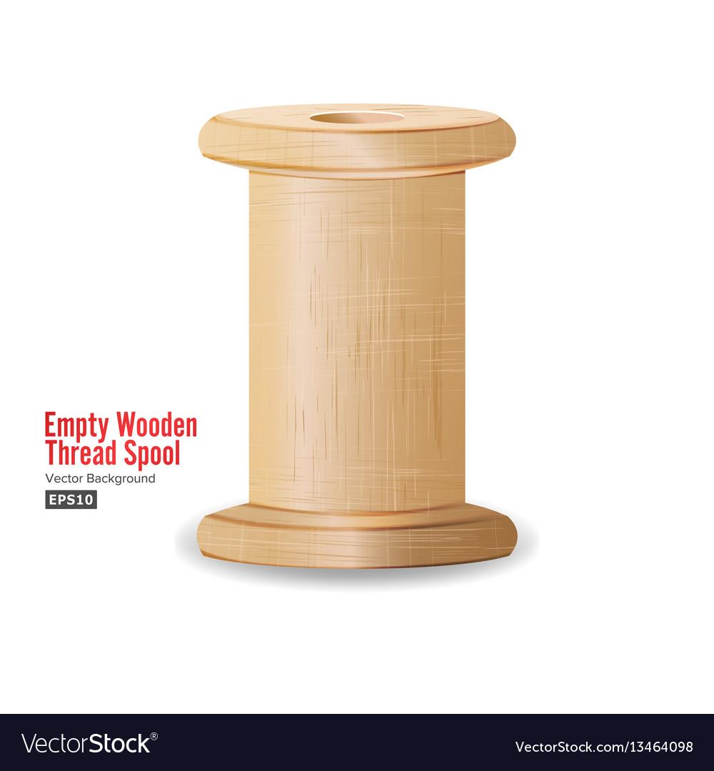 Empty wooden thread spool classic old bobbin