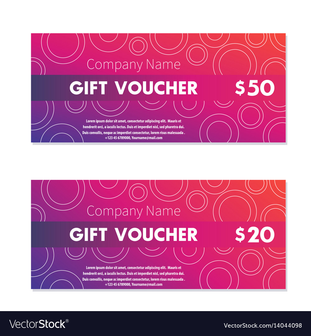 Gift Voucher Certificate Templates Royalty Free Vector Image