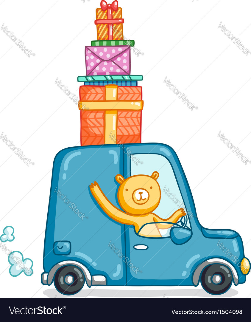 Gifts delivery vector image