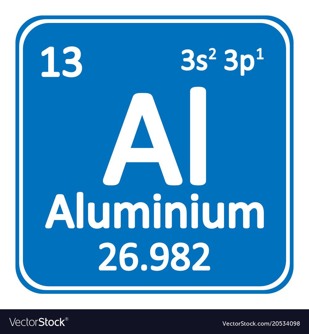 Periodic Table Element Aluminium Icon Royalty Free Vector