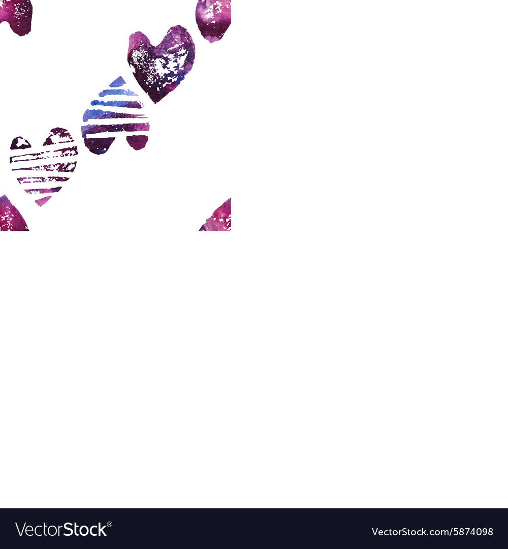 Seamless pattern with grunge hearts