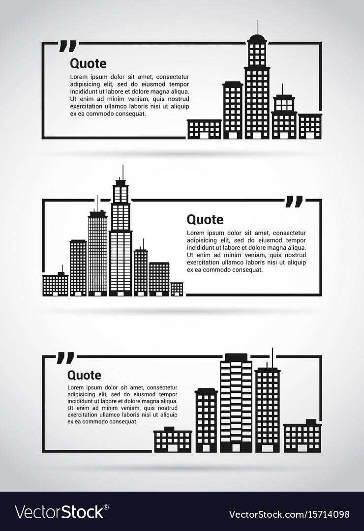 set of quotes templates royalty free vector image