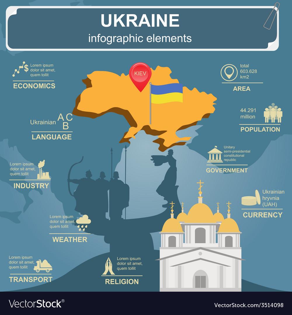 Ukraine infographics statistical data sights