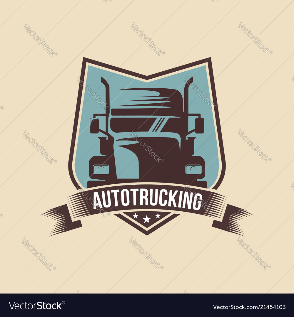 A template of truck logo cargo delivery logistic