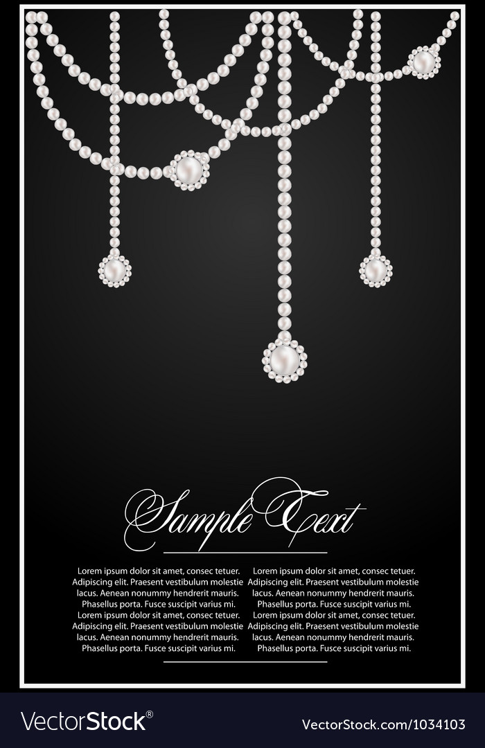 Background with pearls vector image
