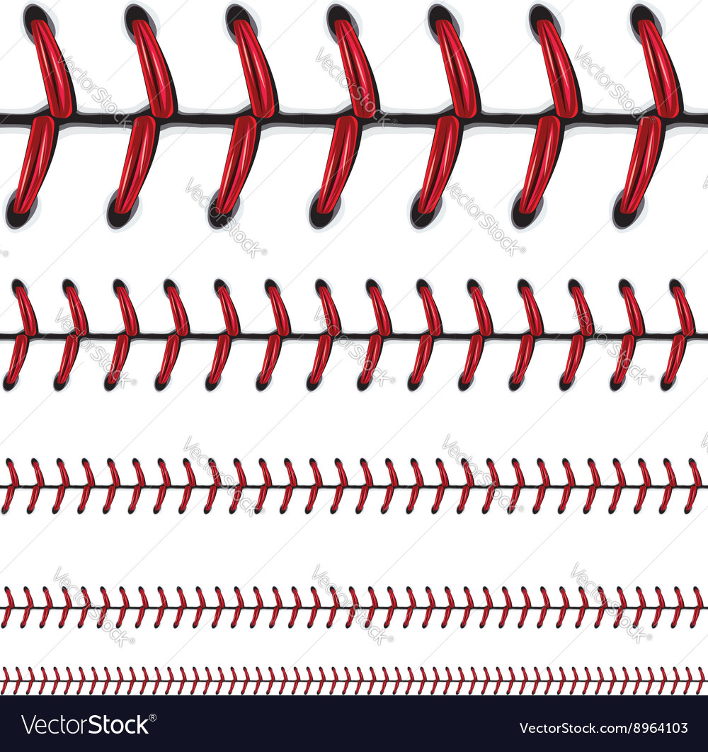 Baseball Lace Background vector image