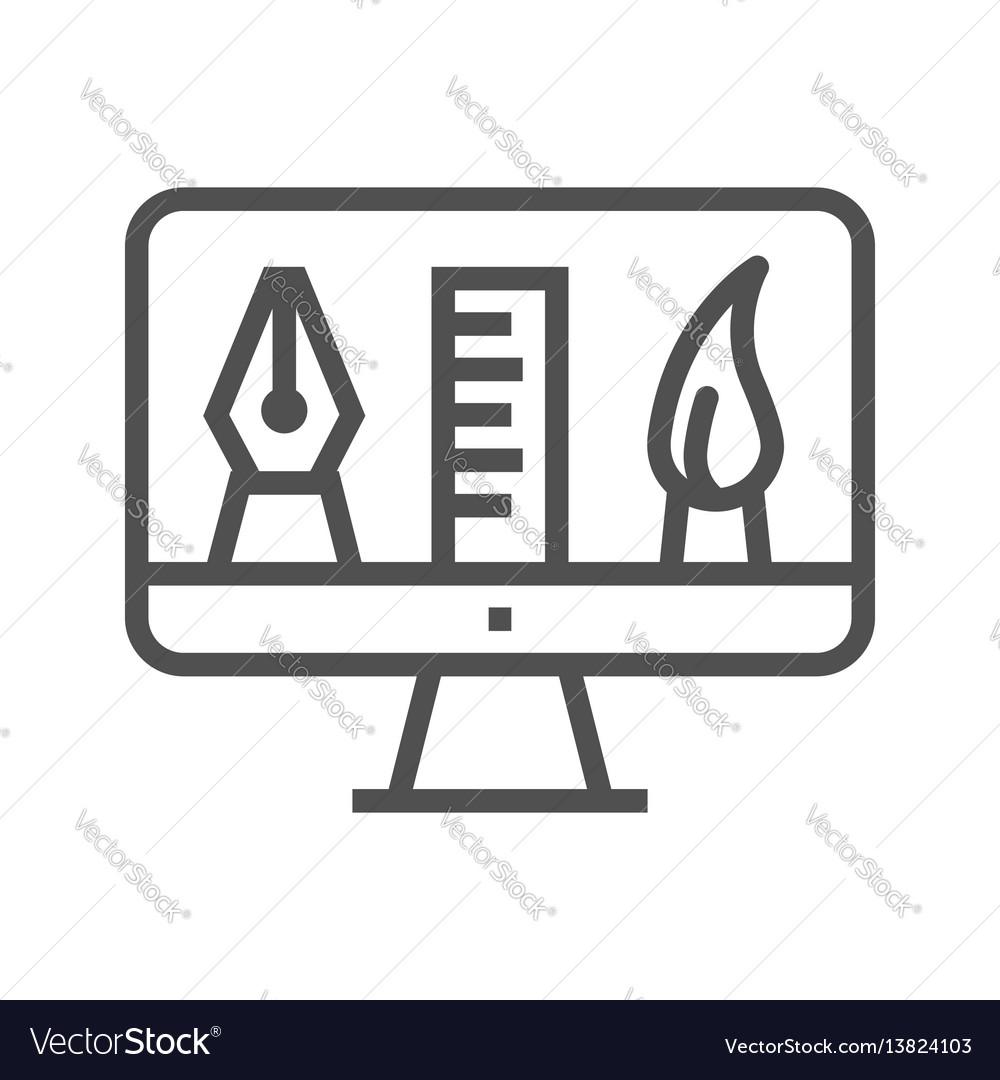 Graphics tools line icon