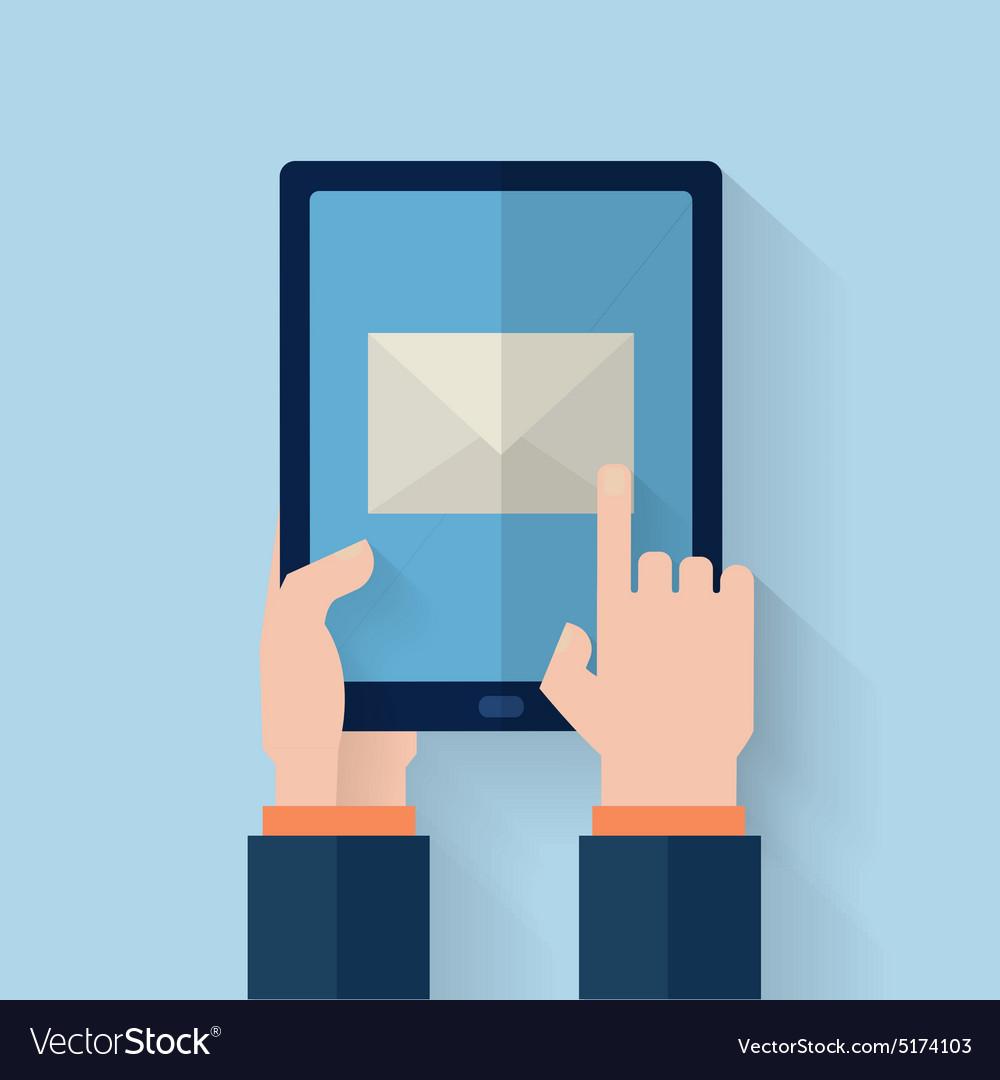 Hand held computer gadget vector image