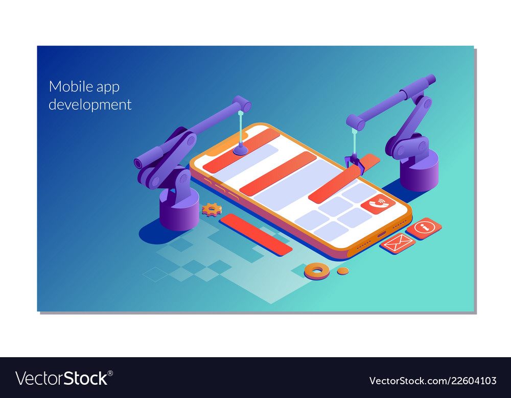 Landing page template mobile app development