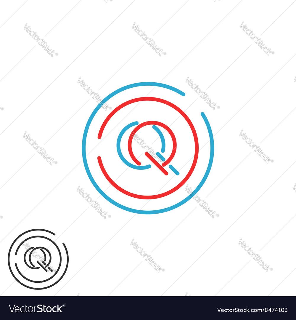 Letters initials QQ logo monogram combination two